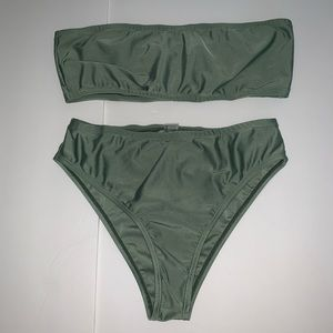 Other - Two piece bandeau swim suit bikini small green